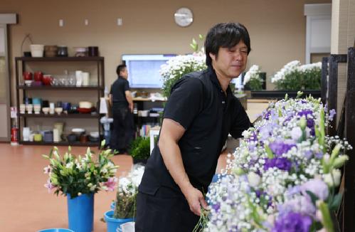 花祭壇をメインに手掛けるチーム